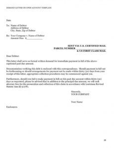 free payment demand letter template ~ addictionary formal demand letter for payment example