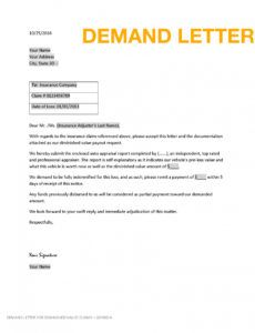 sample diminished value demand letter  claim logistics inc sample demand letter for damages to property example