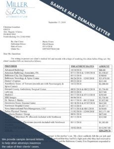 sample how to write a settlement demand letter  maryland personal auto property damage demand letter sample