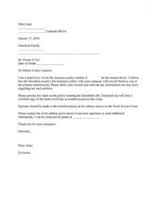 sample sample letter to insurance company for life insurance claim attorney demand letter to insurance company