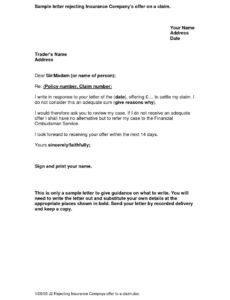 sample subrogation letter to insurance company demand letter to insurance company for auto accident example