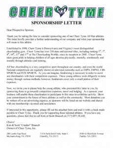 cheer fundraising letter  fill out and sign printable pdf template   signnow cheerleading fundraising letter