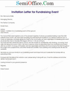editable corporate event invitation sample new fundraising event fundraising event invitation letter sample