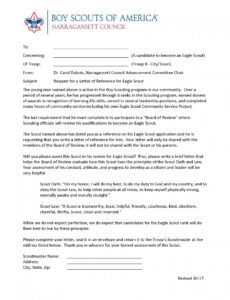 editable eagle scout advancement information eagle scout project fundraising letter sample example