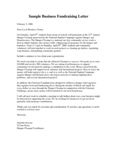 free business fundraising letter  fundraising letter is prepared corporate fundraising letter word