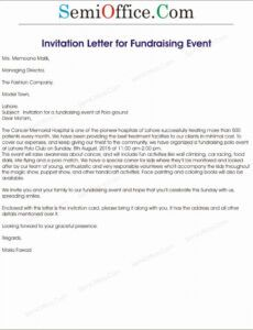 free corporate event invitation sample new fundraising event fundraising dinner invitation letter example