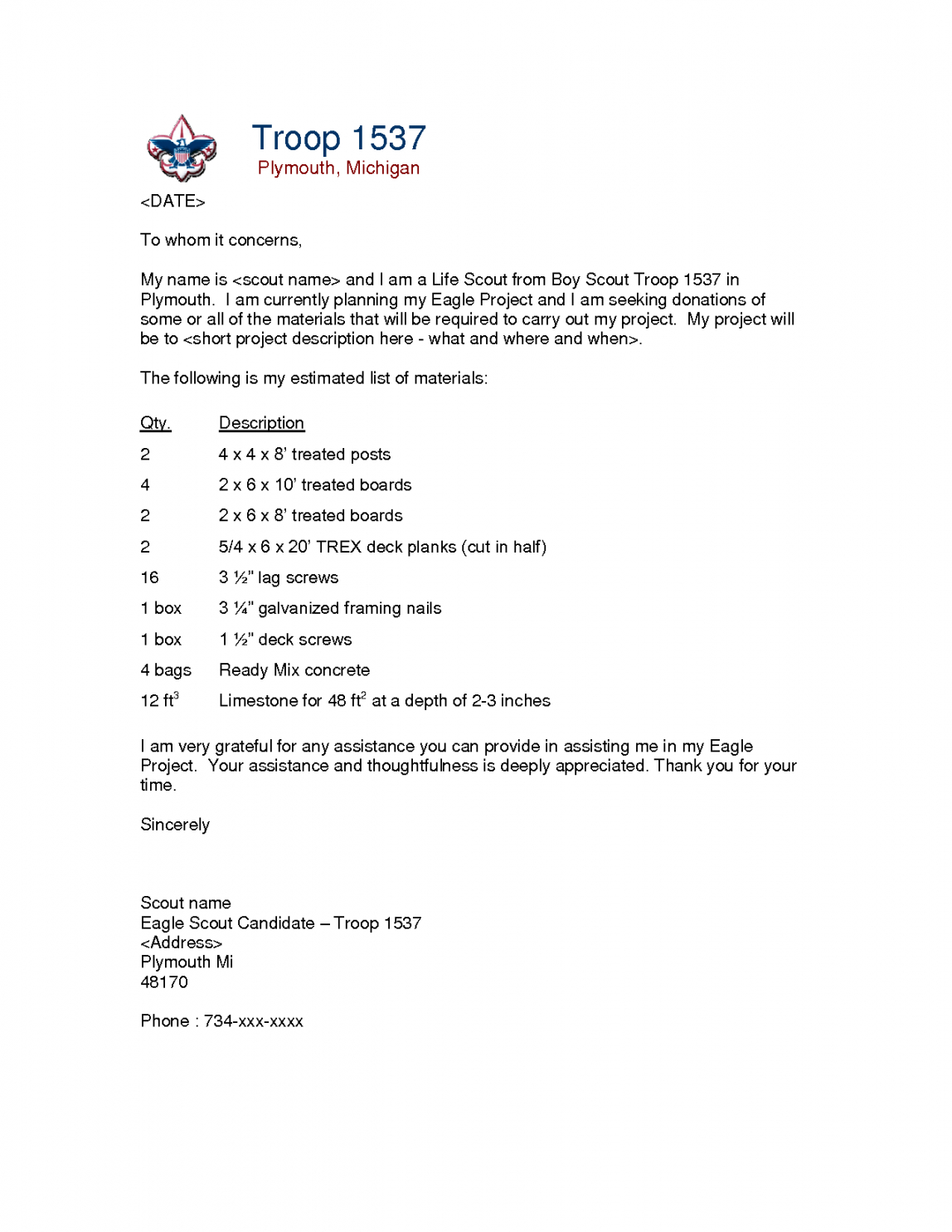 free formal letter sample sample formal letter requesting eagle scout fundraising letter
