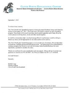 free letter sponsorship business contract between two parties basketball fundraising letter example