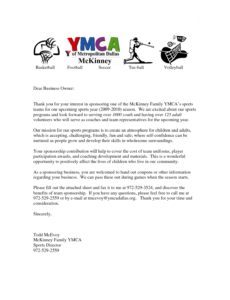 free letters for sports teams youth sponsorship letter team sports team fundraising letter doc