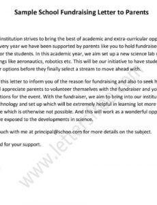 free sample school fundraising letter to parents  lettersfree school fundraising letter to parents