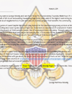 fundraising eagle scout project donation request letter eagle scout project fundraising letter sample sample
