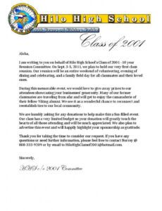 letter requesting donations from local businesses and alumni fundraising letter excel