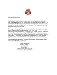 letters for sports teams youth sponsorship letter team basketball fundraising letter