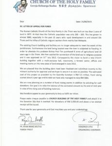 new church building  church of the holy family ulu tiram church building fundraising letter example