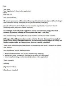 printable donation request letters asking for donations made easy! fundraising donation request letter word