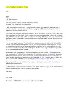 printable explore our example of missionary support letter template in missionary fundraising letter
