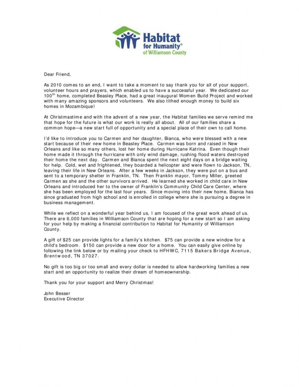 printable habitat for humanity end of year fundraising letter by chad end of the year fundraising letter sample