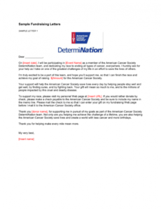 sample sample fundraising letters cancer fundraising letter excel