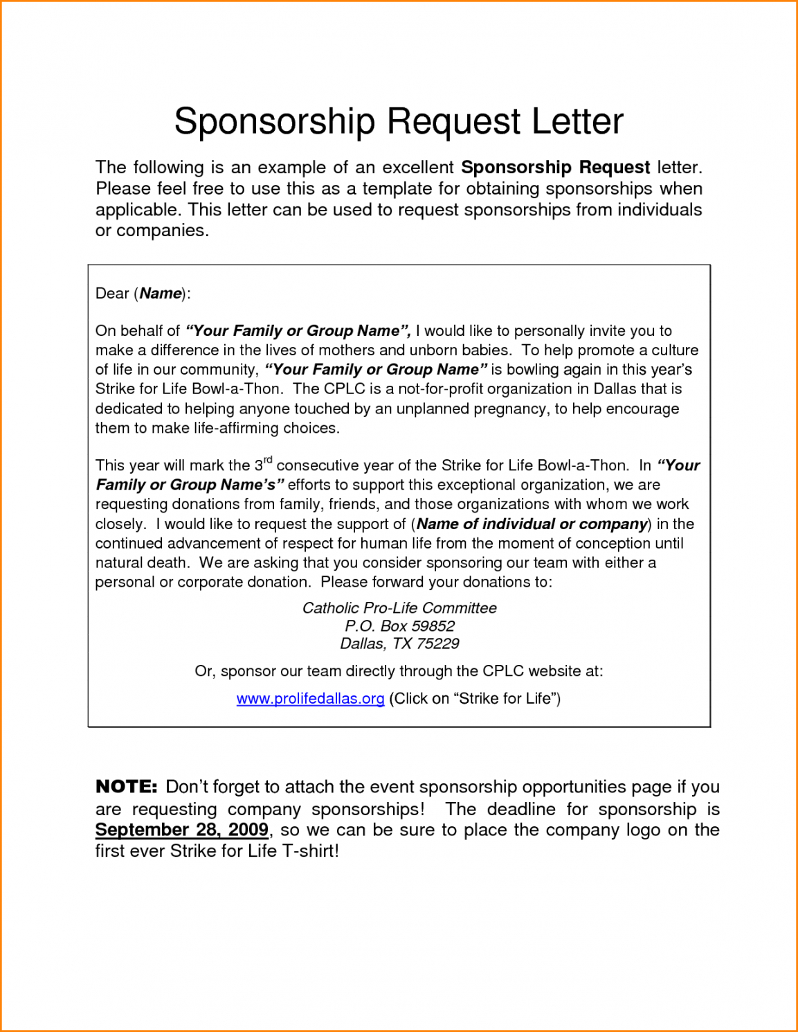 sponsorship letter sample mple request letters requesting scholarship fundraising letter word