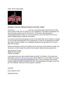 summit sponsorship letter by natural venom  issuu booster club fundraising letter pdf