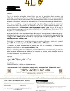 young alumni solicitation letter personalized with major and alumni fundraising letter