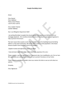 best contribution letter for loan modification doc