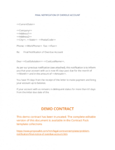 costum collections letter template final notice pdf example