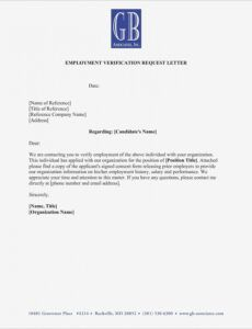 costum letter of employment verification template word sample