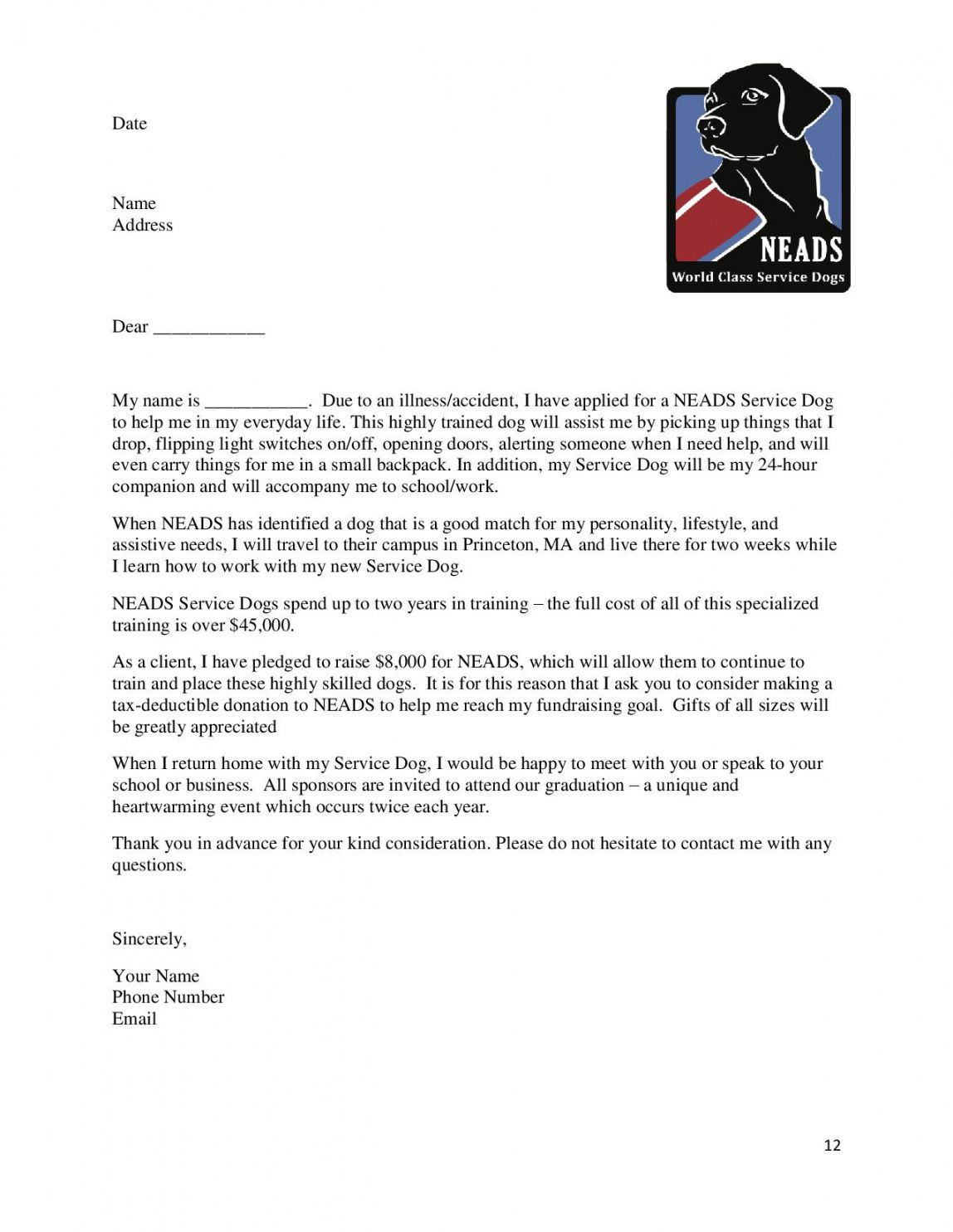 editable animal rescue donation request letter doc example