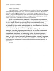 editable college admissions appeal letter doc example