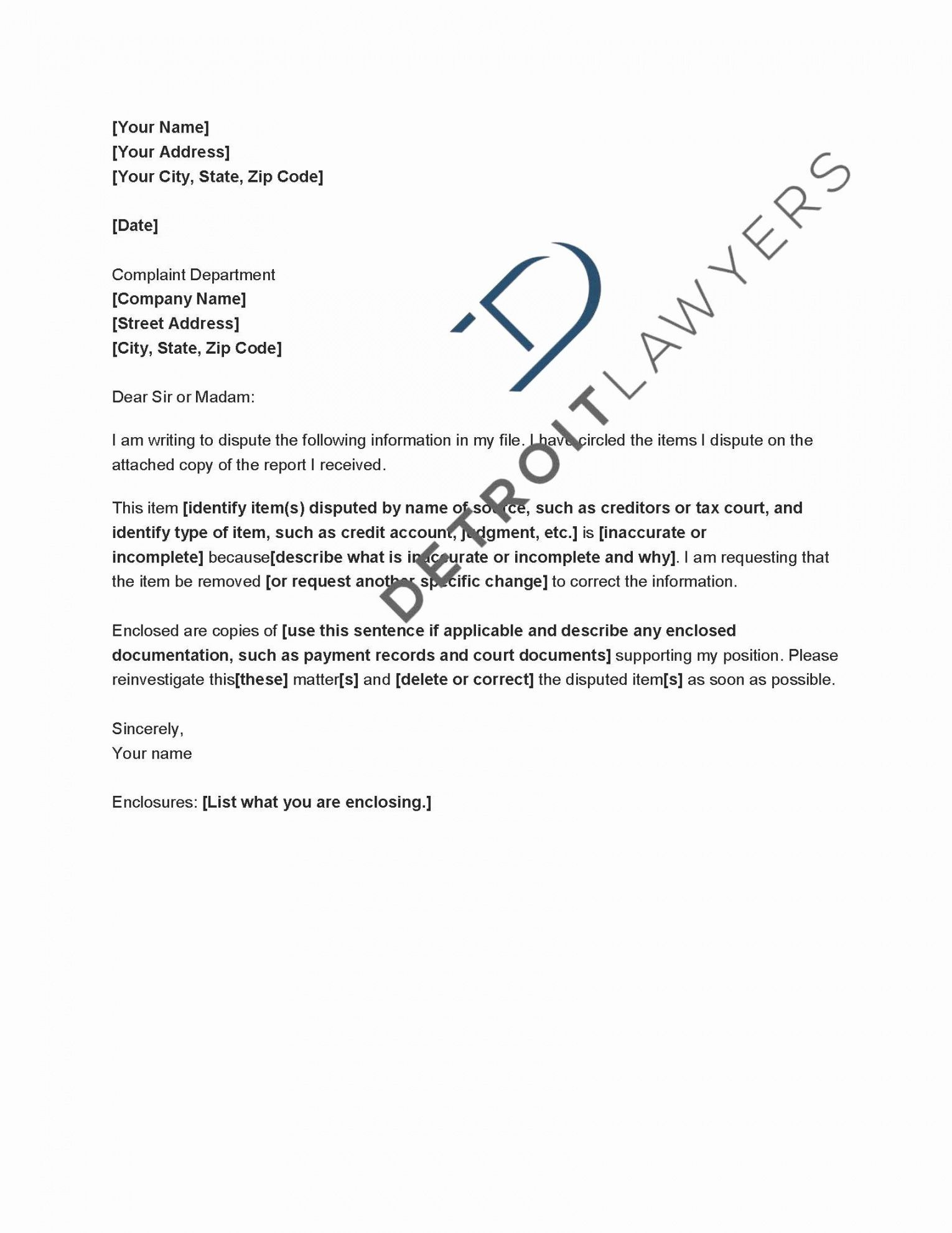 editable insolvency letter to creditors template