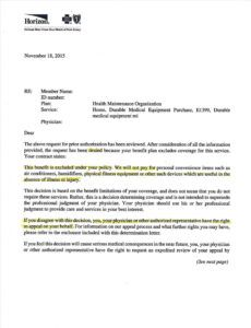 editable medical necessity appeal letter template doc example