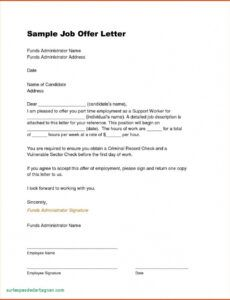 editable offer of employment letter template doc