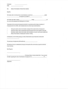 editable verification of termination of employment letter doc example