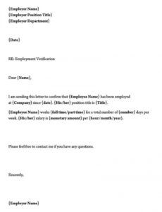 employment verification letter template  sample