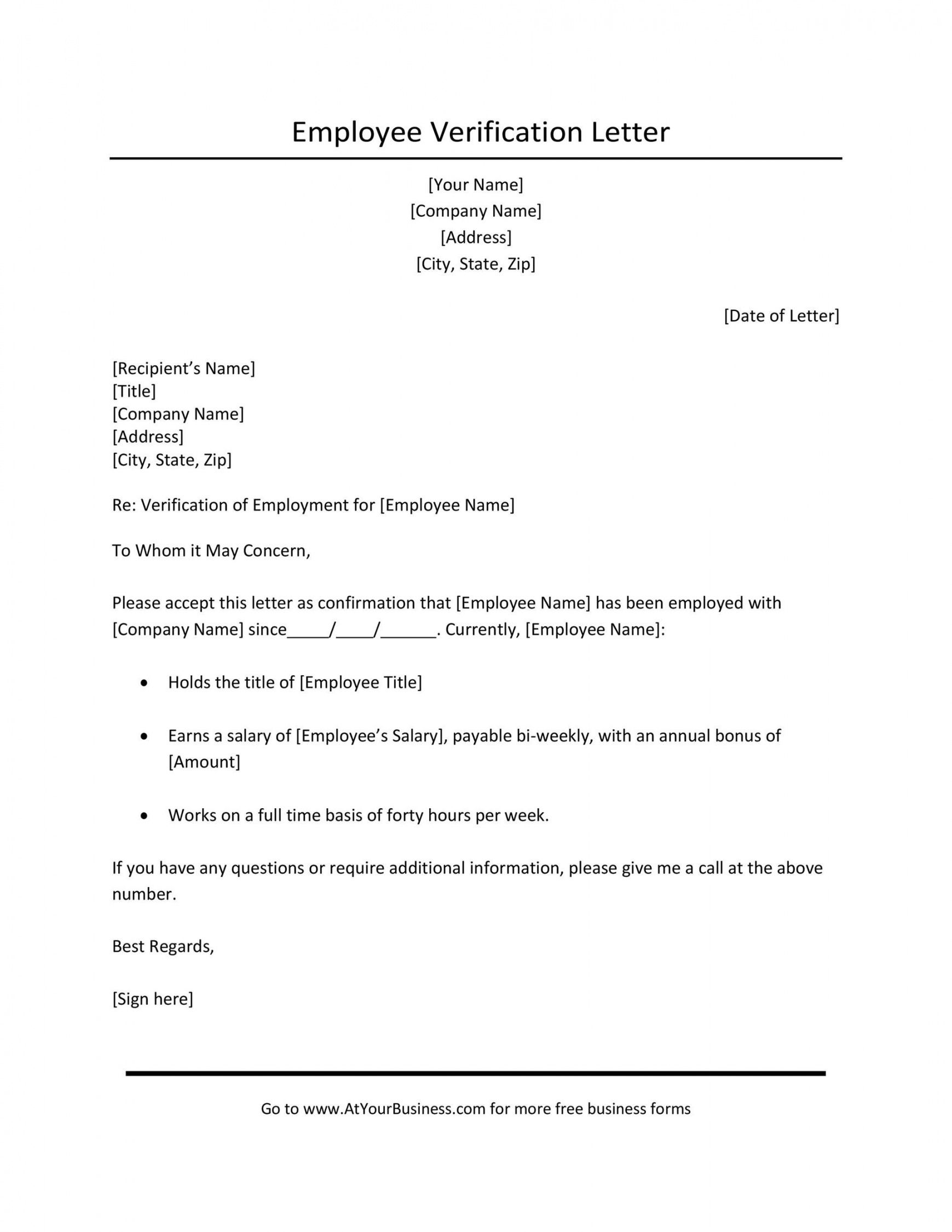 free employment verification letter for independent contractor excel sample