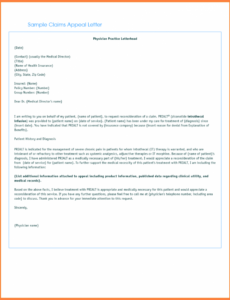 free letter of appeal for insurance claim  example
