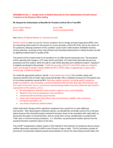 free medical necessity appeal letter template doc sample