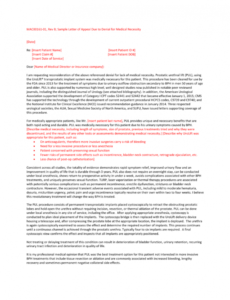 printable medical necessity appeal letter template doc sample