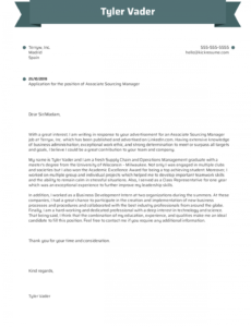 professional application letter for graduate school  example