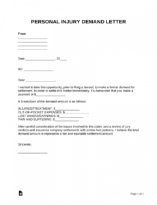 professional auto accident demand letter template  example