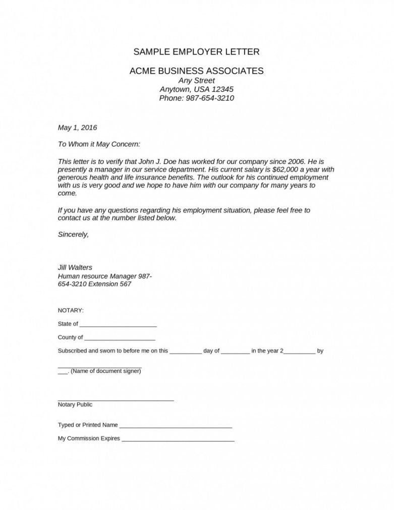 professional employment verification letter for independent contractor word sample