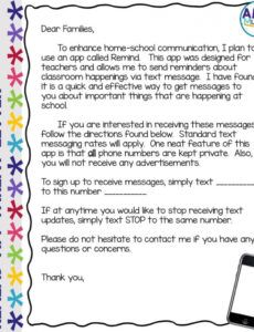 professional letter to parents from teacher template word sample