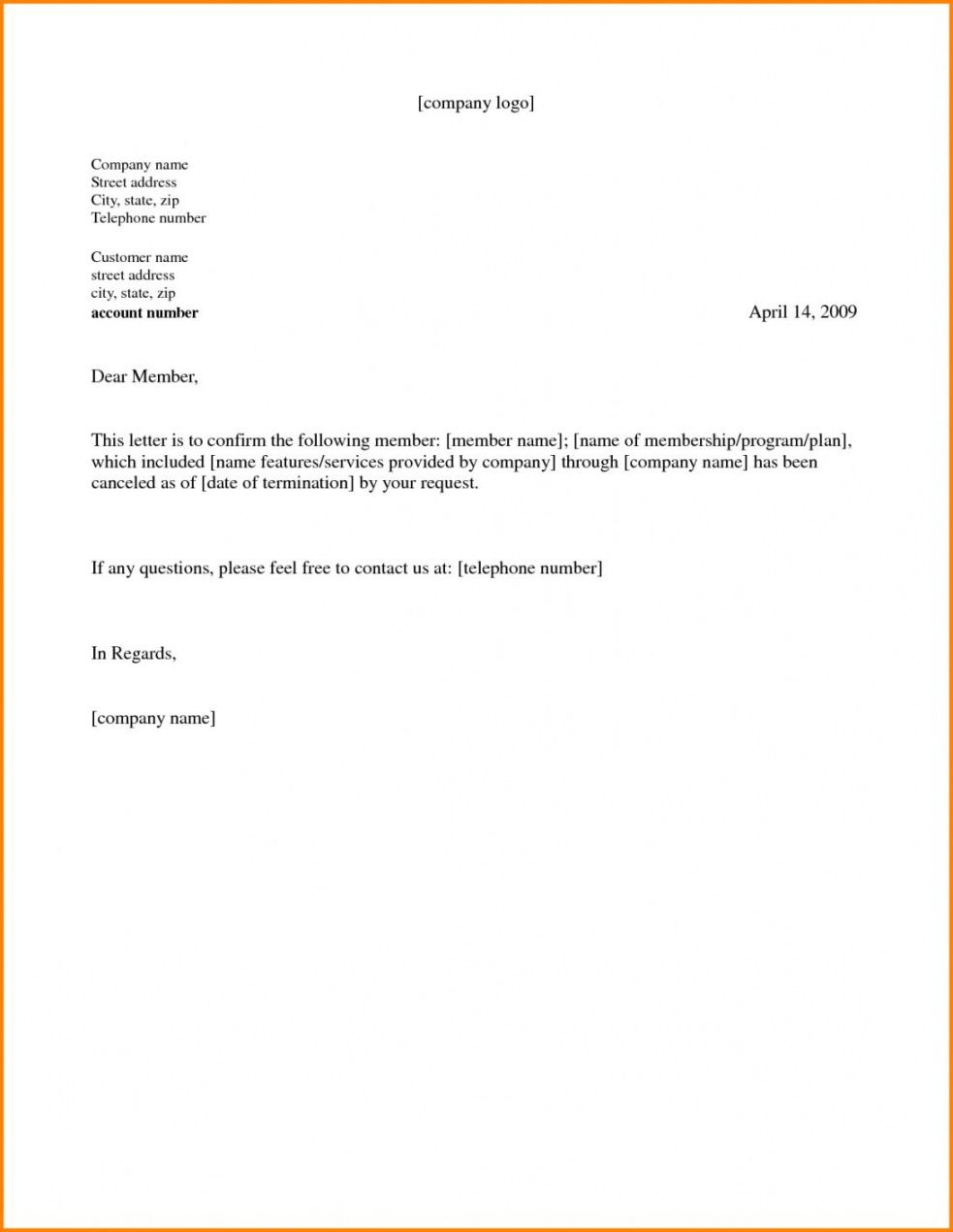 Best Gym Membership Cancellation Letter Template Pdf Example