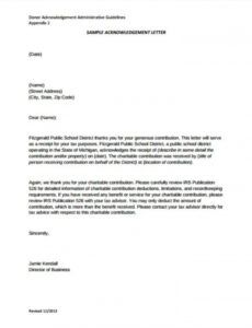 Charitable Donation Request Letter Template