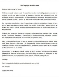 Costum New Client Welcome Letter Template Word