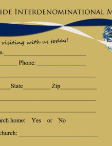 Costum Welcome Letter For Church Visitors Template  Sample