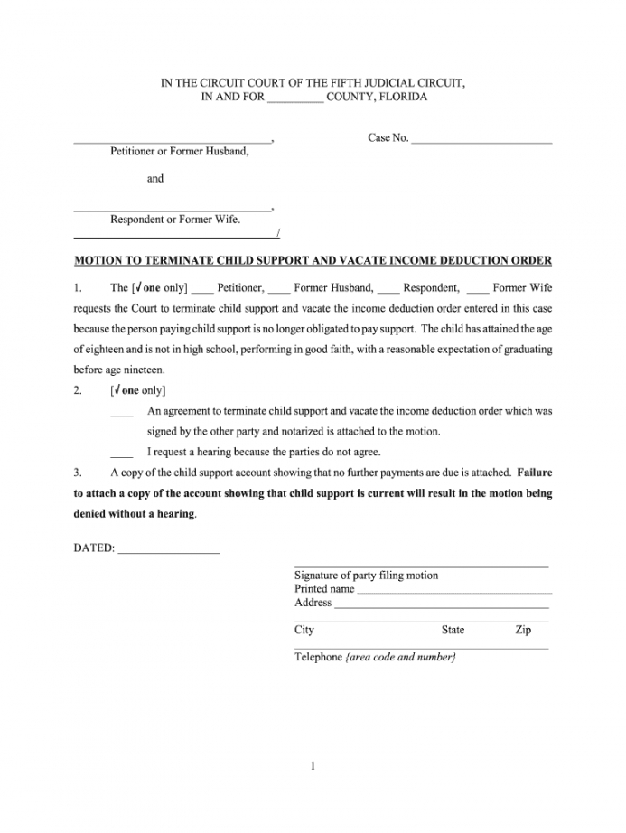 Editable Proof Of Child Support Letter Template Pdf Sample