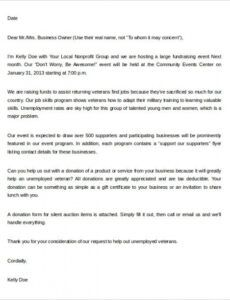 Free Fundraising Request Letter Template  Sample