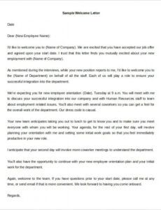 Free New Client Welcome Letter Template Word Sample